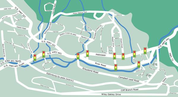 Gatlinburg Map Cabin Rentals In Various Areas Of Gatlinburg
