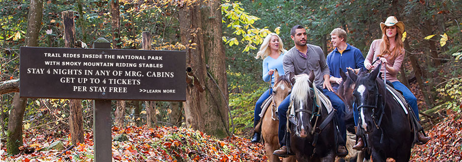 Free Horseback Riding inside the Great Smoky Mountains National Park