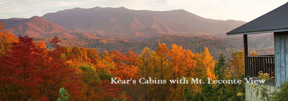 Mt. Leconte view Gatlinburg Cabins