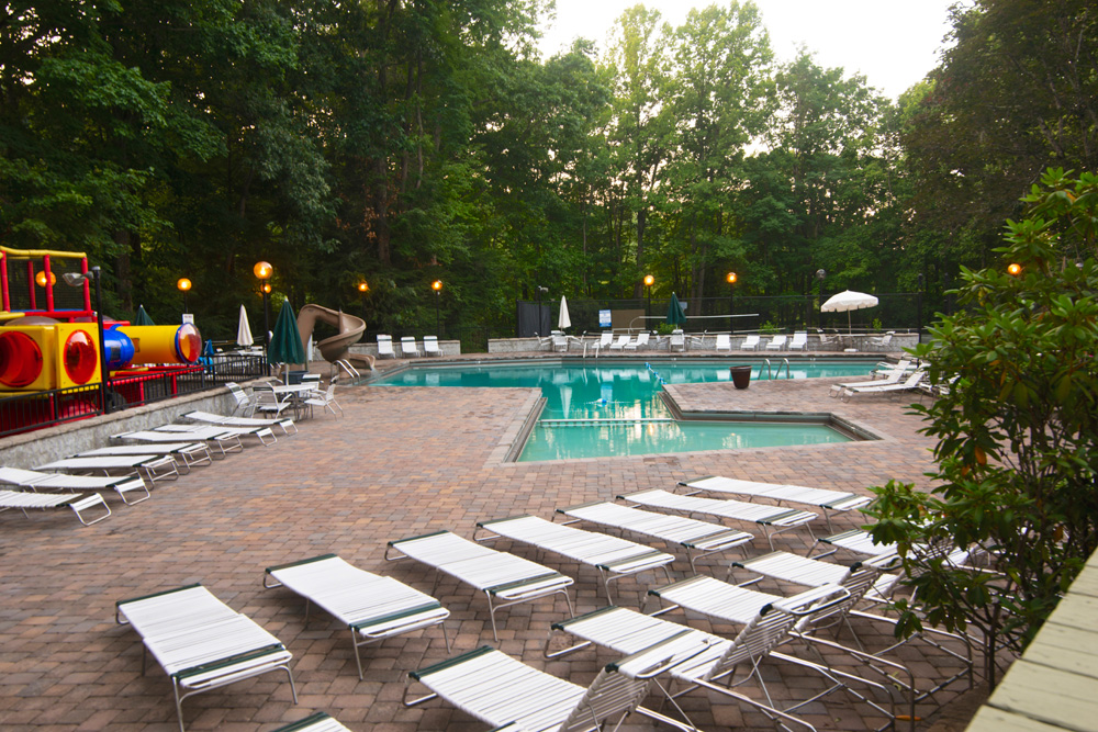 Chalet village clubhouses and swimming pools - Round table montgomery village ...