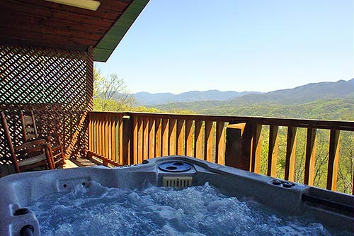 04118 kear 39 s mountain splendor for Az cabin rentals with hot tub