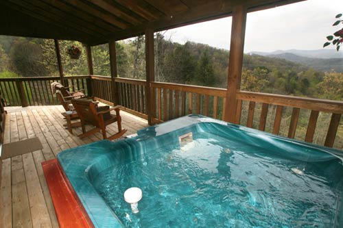 10124 sweet surrender for Cabin in gatlinburg with hot tub