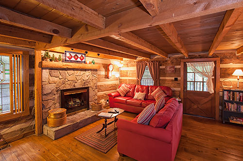 "Living Room Decorating Ideas Log Cabin the robin's nest tr#1"" gatlinburg authentic log cabin in"