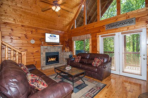 log home living room 5 bedroom cabins in gatlinburg mountain rentals of gatlinburg
